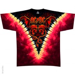 AC/DC Evil Wings V Dye T-Shirt