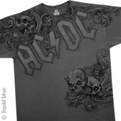 AC/DC Night Prowler Charcoal T-Shirt