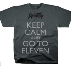 Spinal Tap Keep Calm Go To Eleven Grey T-Shirt