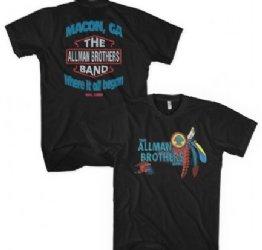 98f9ff85023 Allman Brothers Macon GA Where It Began Black T-Shirt